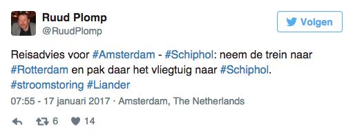 Stroomstoring in Amsterdam en Twitter gaat los!