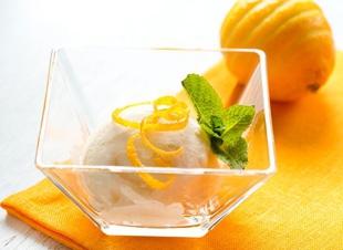 Gezond citroenijs
