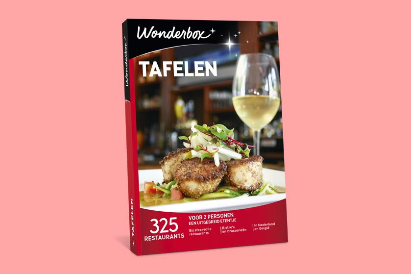 Win! 5x Wonderbox Tafelen t.w.v. € 59,90 om uitgebreid te dineren