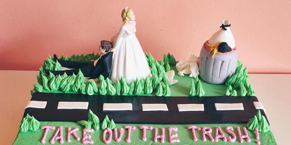 Hilarisch, 13x een divorce cake om te vieren dat je weer single bent