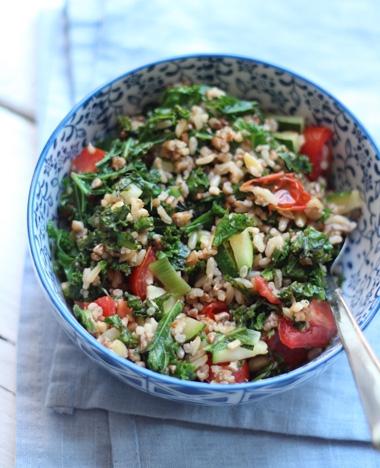 Salade met boerenkool