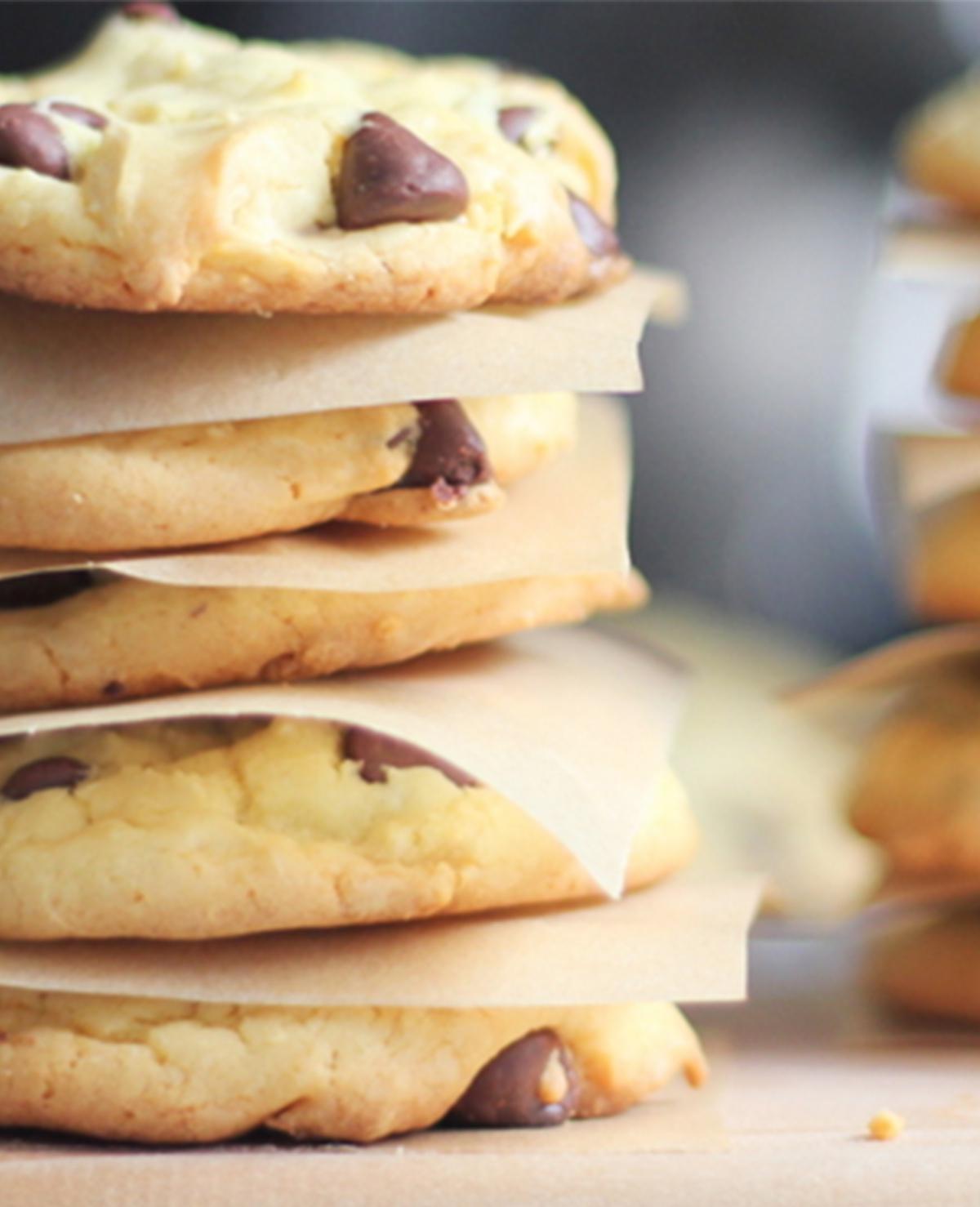 Deze chocolate chip cookies maak je met slechts 4 ingrediënten