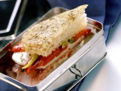 Recept: Ciabatta met gegrilde paprika en mozzarella
