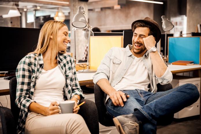 Flirten tijdens werk