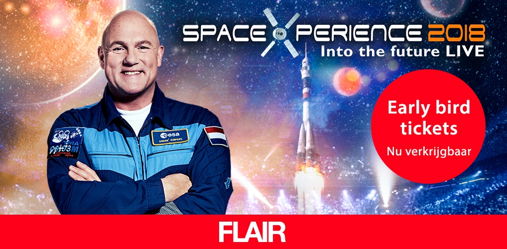 Voor even in de ruimte: koop hier snel je tickets voor de SpaceXperience 2018
