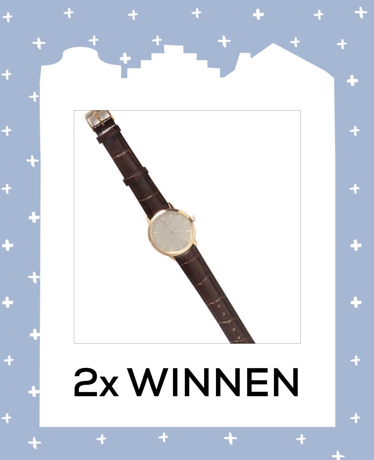 2x winnen: horloge van Renard