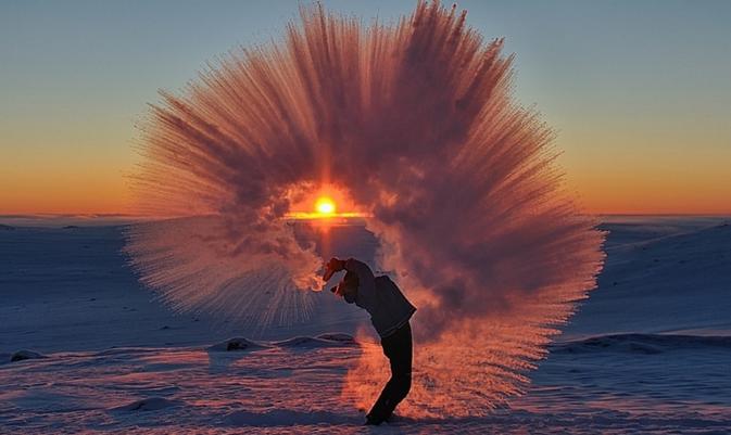ZIEN: De mooiste foto's van thee in de vrieskou
