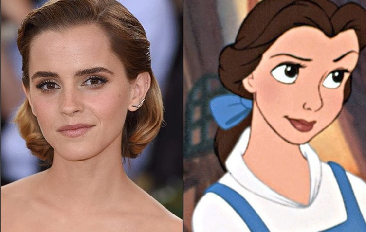 YAY! Er zijn eindelijk foto's van Emma Watson in de gouden Belle-jurk!