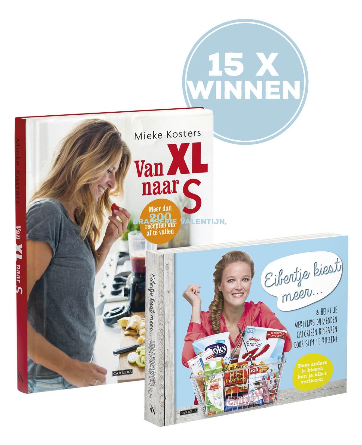Win de boeken 'Van XL naar S' en 'Eibertje kiest meer'