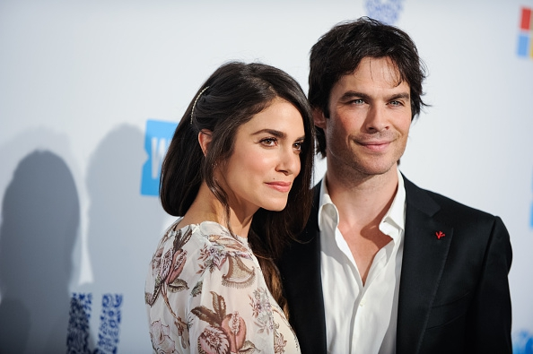 INGLEWOOD, CALIFORNIA - APRIL 07: Actress Nikki Reed (L) and Ian Somerhalder arrive at WE Day California 2016 at The Forum on April 7, 2016 in Inglewood, California. (Photo by Emma McIntyre/Getty Images)