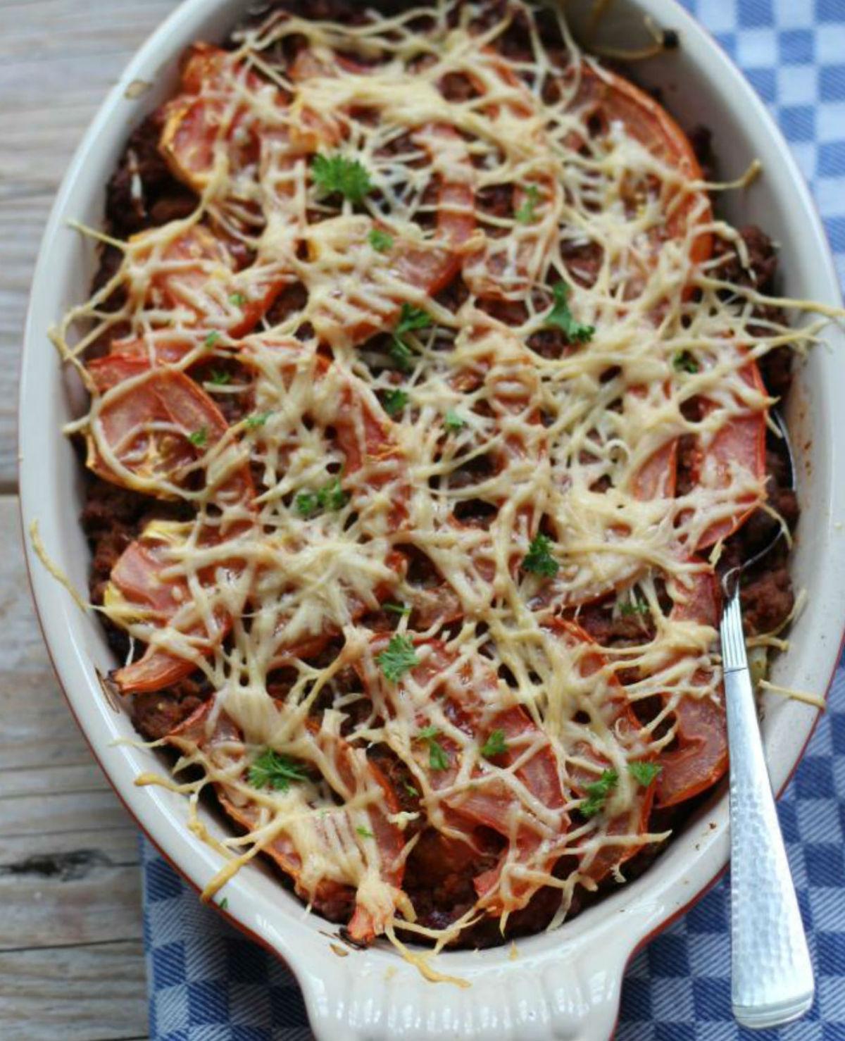 Ovenschotel met aardappel