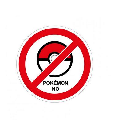 Nieuw: de 'Pokémon No'-sticker om té enthousiaste Pokémon-zoekers te weren