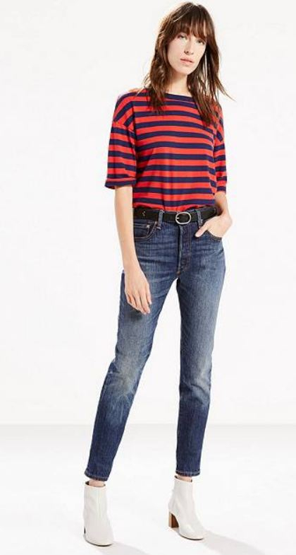 jeans met lage taille