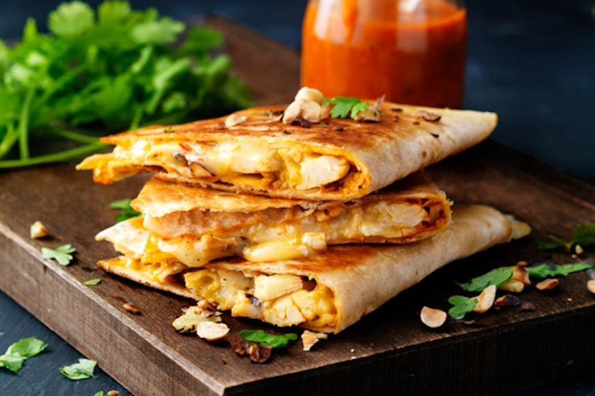 Nationale Week Zonder Vlees – recept: quesadilla met gegrilde bloemkool