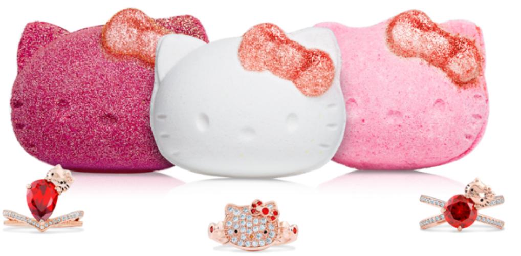 Snoezig badderen: deze Hello Kitty-bath bombs zijn echt té cute