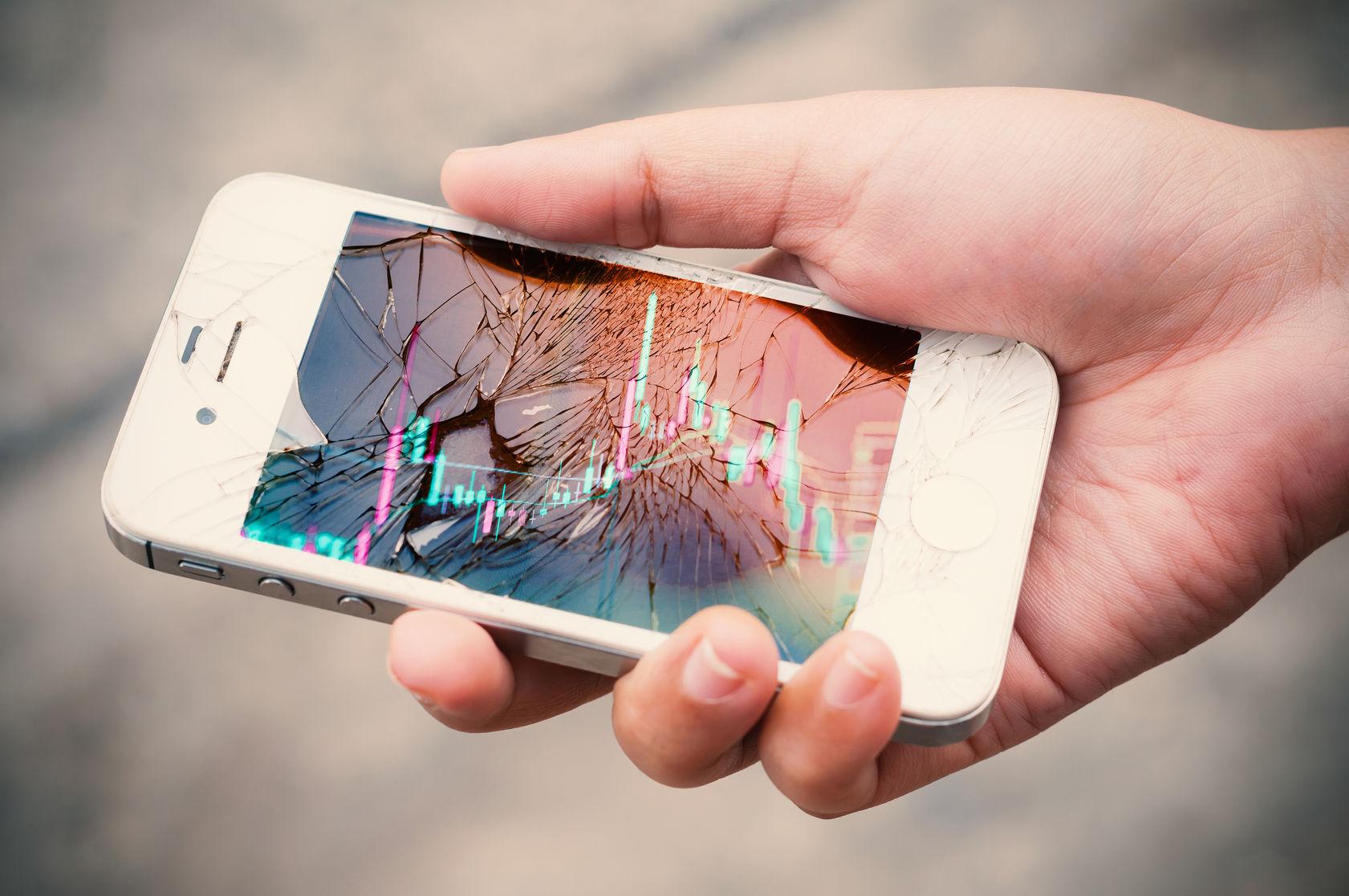 Wat een kapot telefoonscherm met je gezondheid doet