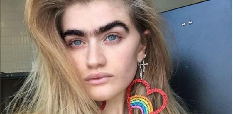 De unibrow is terug (als we dit Instagrammodel mogen geloven)