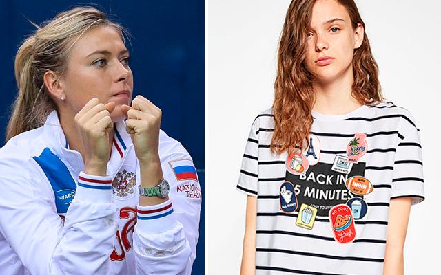 Fans van tennisster Sharapova kopen plots allemaal dit T-shirt van Zara