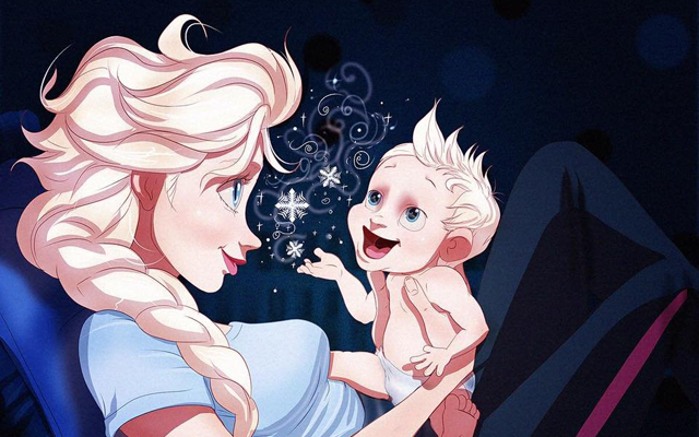ZIEN: wat als … Disneyprinsessen kinderen hadden?
