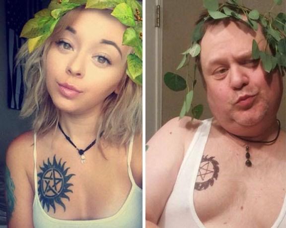 Hilarisch: deze vader imiteert de selfies van zijn dochter
