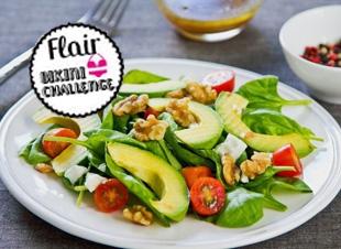 Gezonde avocado salade