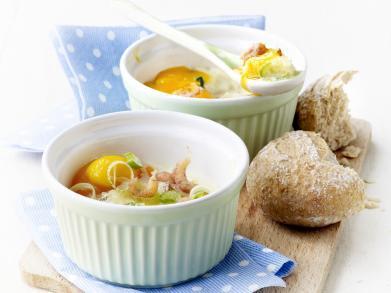 Recept: Oeufs en cocotte met garnalen