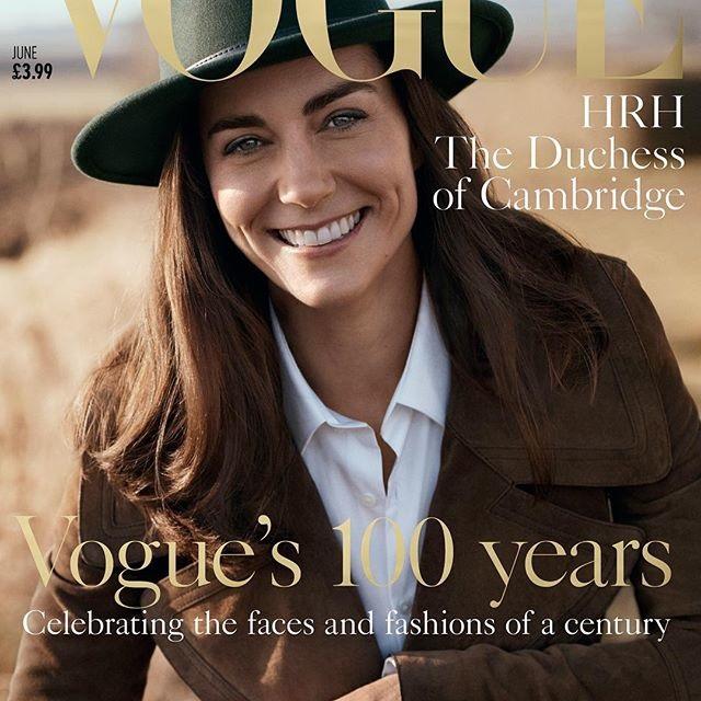Kate Middleton straalt op de cover van de Vogue