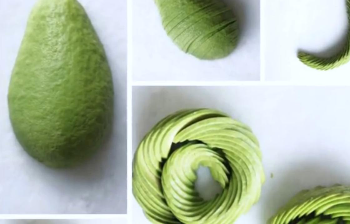 Zo maak je van een avocado een roos