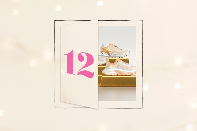 Flair's Adventskalender 2020 #12: win 2x exclusieve gouden hardloopschoenen van HOKA