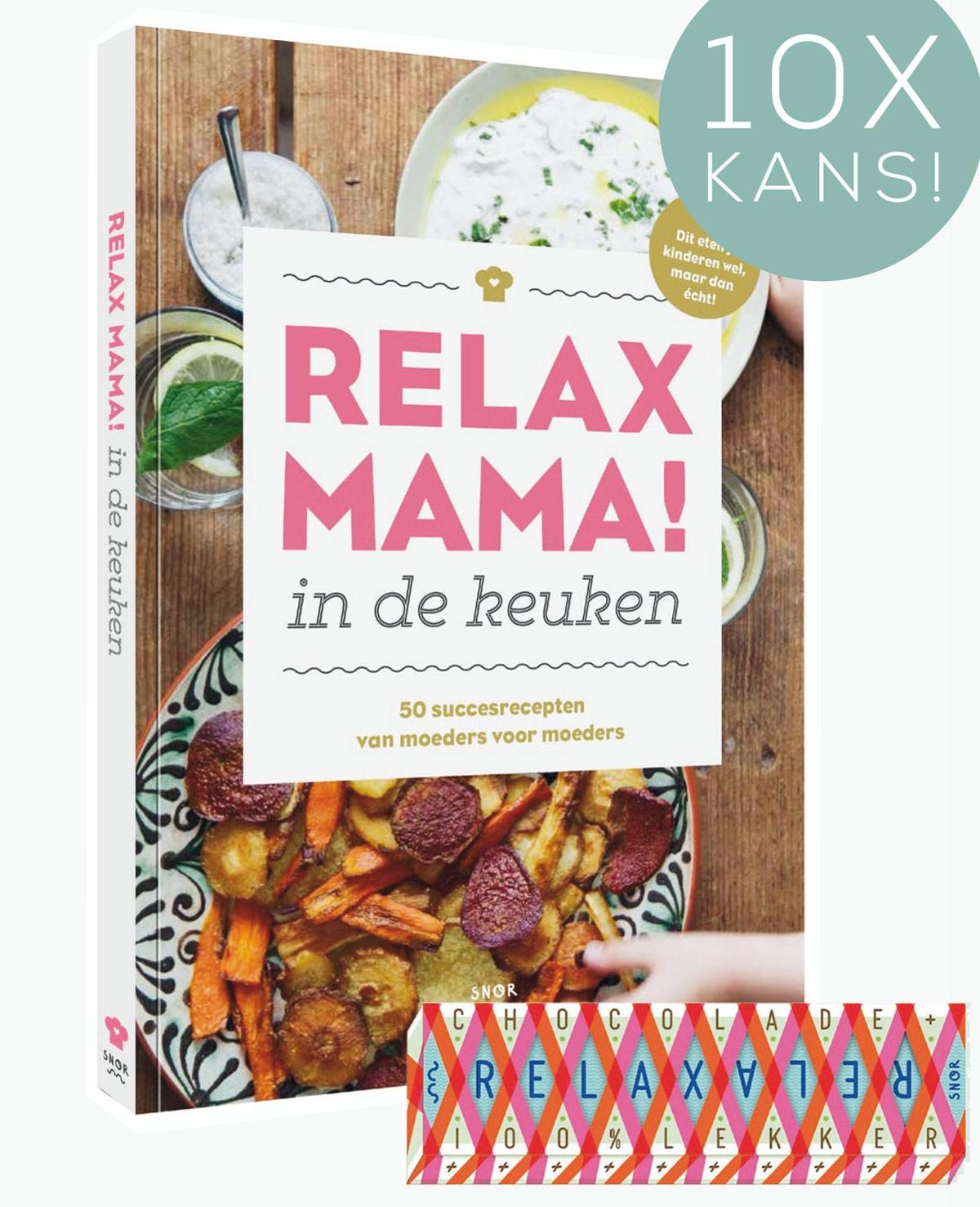 Win het boek 'Relax mama in de keuken' + chocoladereep