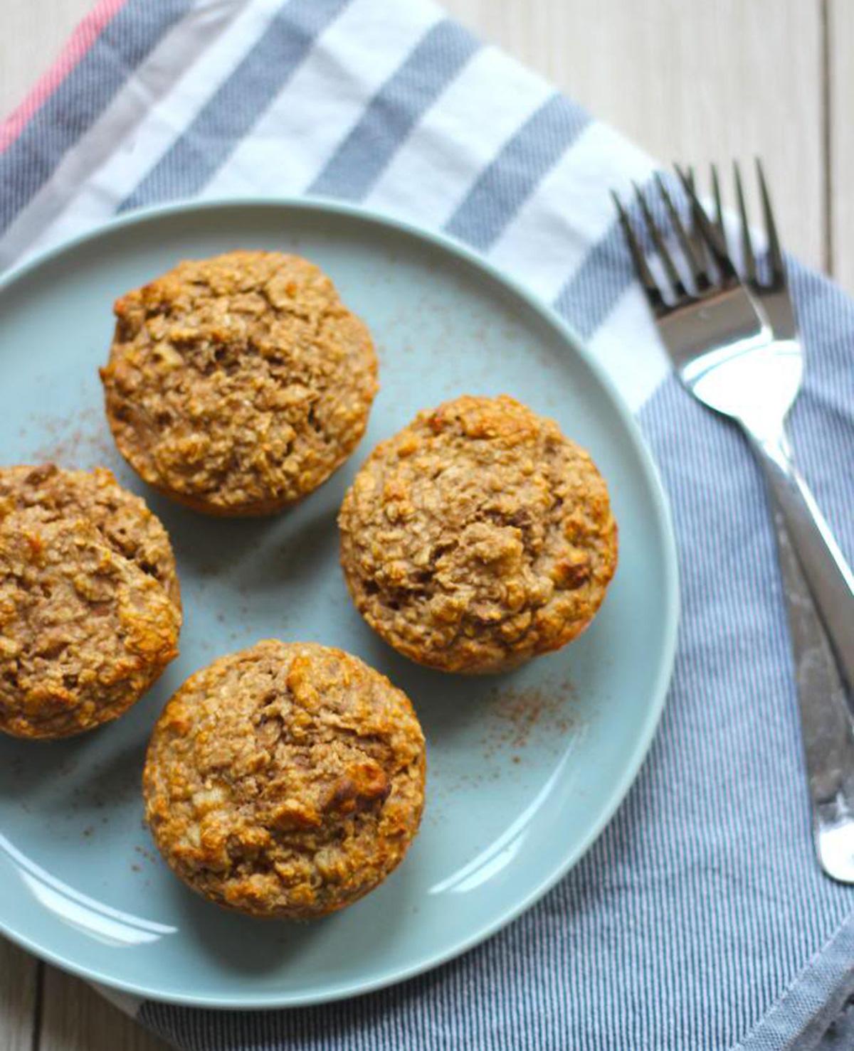 Gezonde muffin met walnoten en banaan