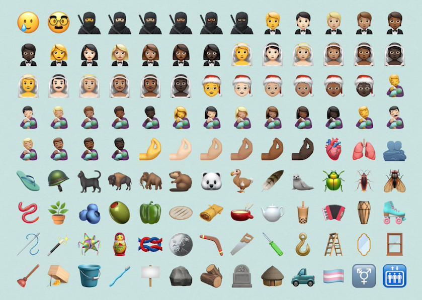 nieuwe emoji 2020