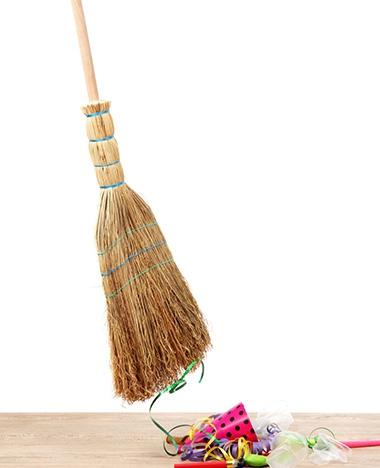 Snel opruimen na een feestje is zo gepiept!