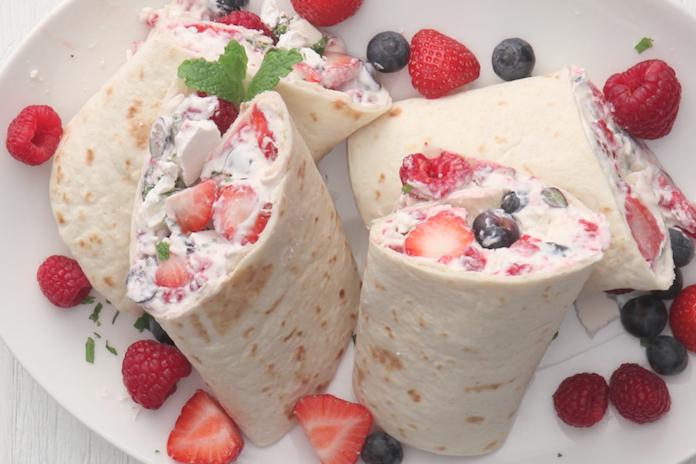 Recept: zoete wraps met rood fruit