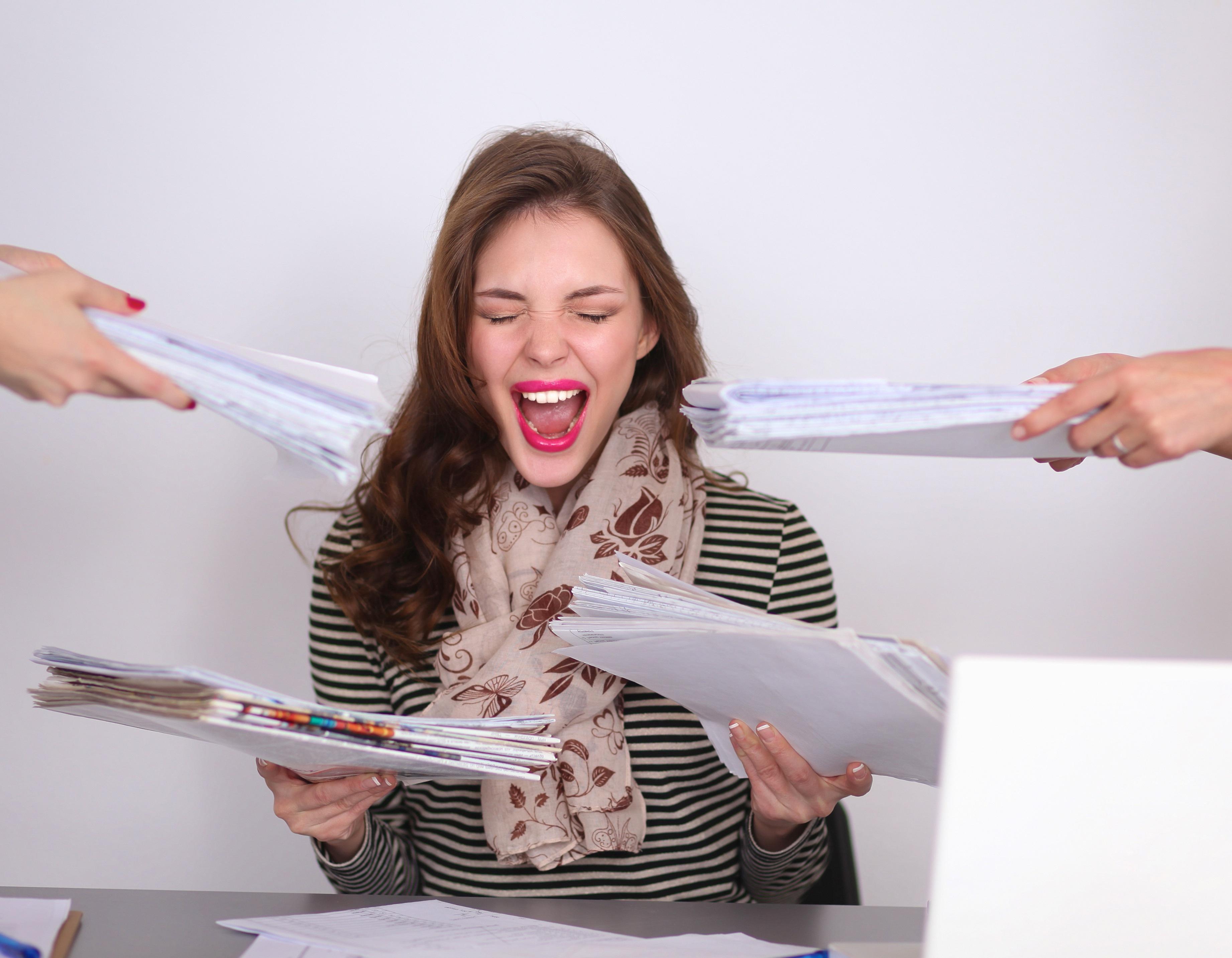 Oei! Door stress kom je blijkbaar echt aan!