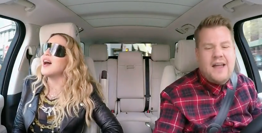 ZIEN: Madonna showt moves in Carpool Karaoke