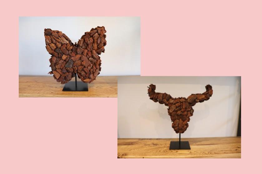 WIN: 2X DIY-pakket voor een mooie bull of vlinder gemaakt van boomschors