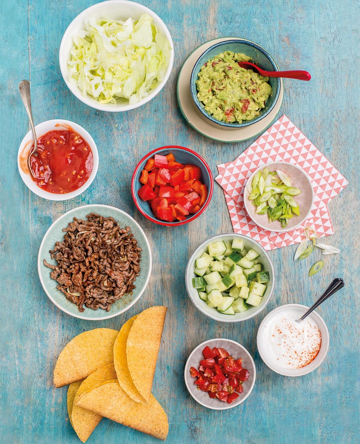 Recept Mieke: Taco's met gehakt en groenten