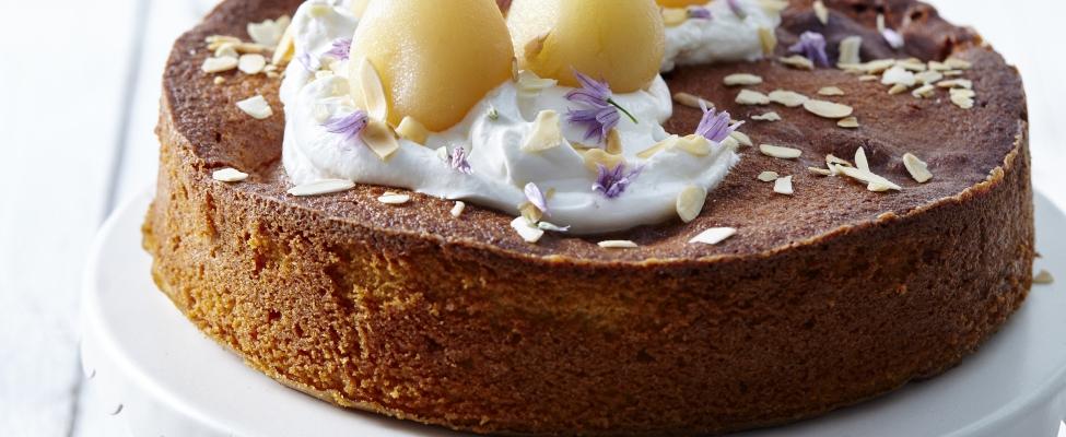 Recept: Perentaart met honing en Griekse yoghurt