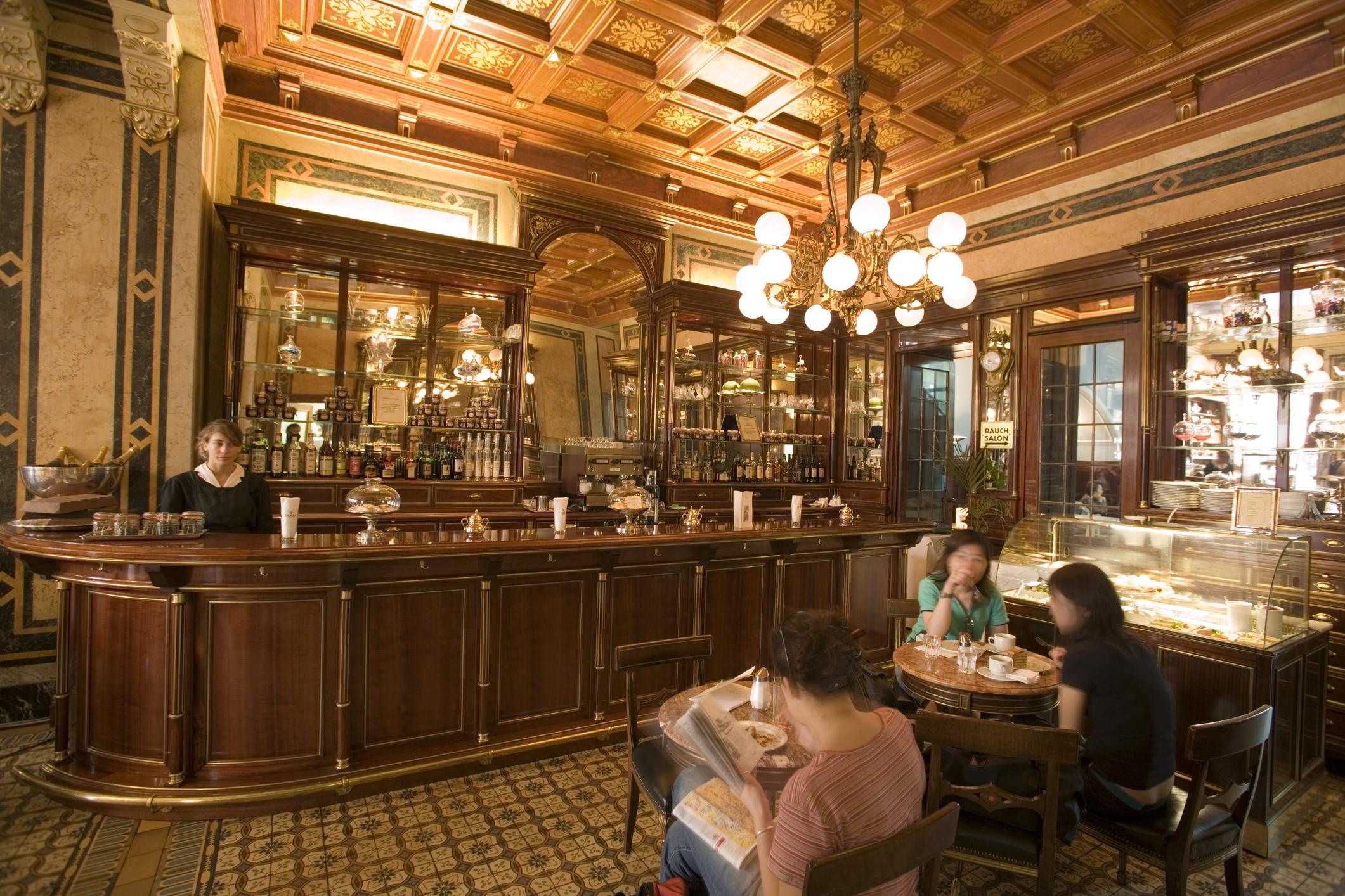 Inside Cafe Demel, Vienna, Austria