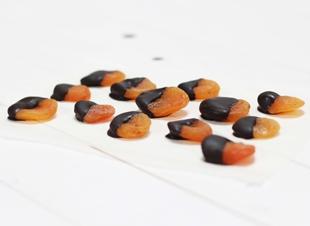 WK-snack: chocolade abrikozen