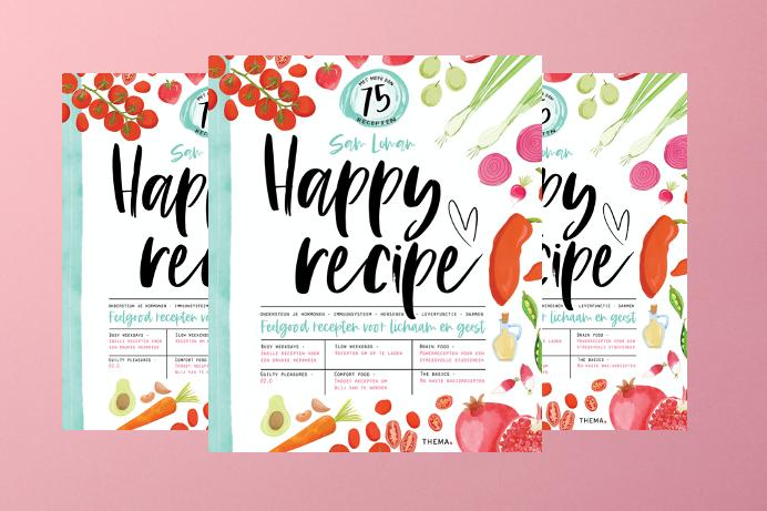 WIN: 3x het boek 'Happy recipe' vol feelgoodrecepten voor lichaam en geest