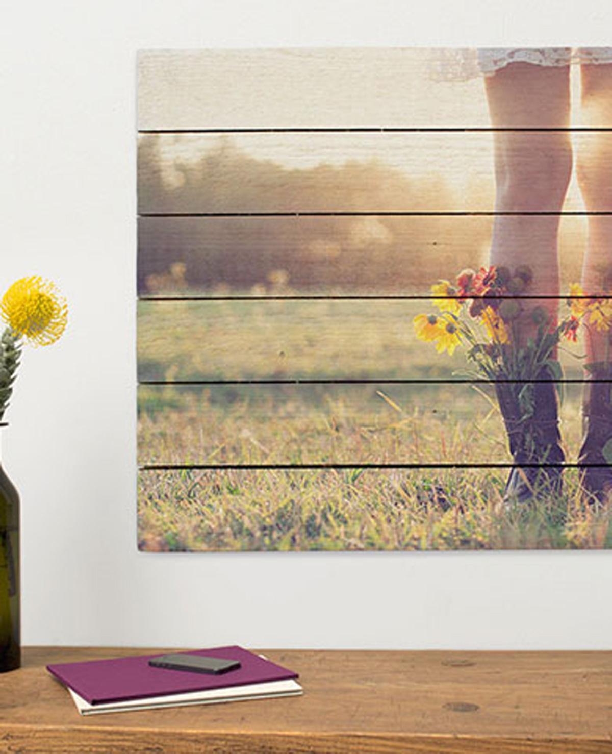 Win je favo foto op hout voor Moederdag