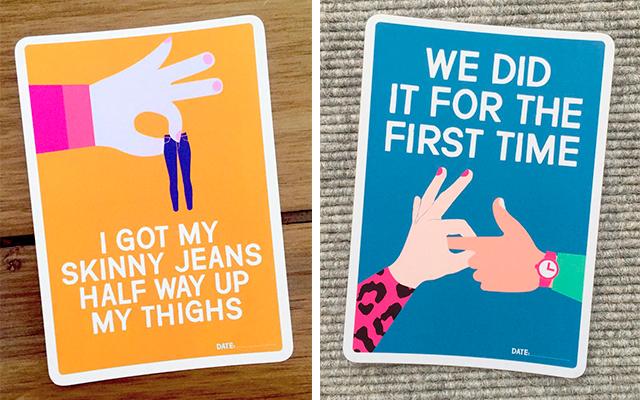 Hilarische kaartjes vieren de keerzijde van het moederschap