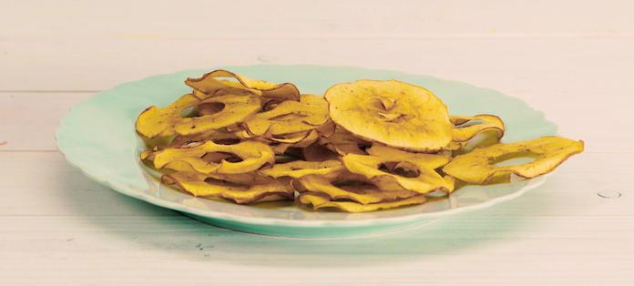 Zo maak je zelf gezonde appelchips