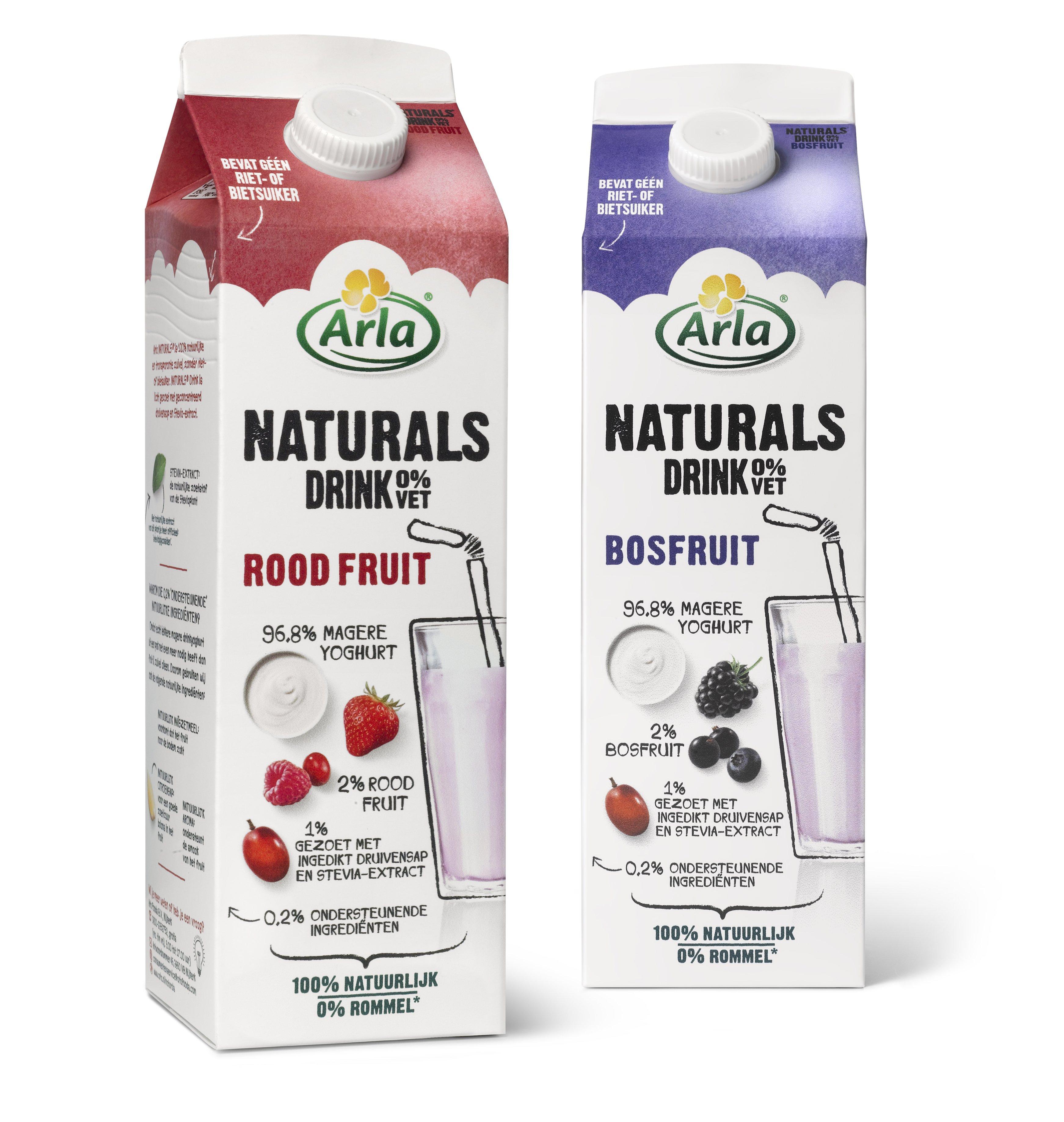 2 x Arla Naturals drink