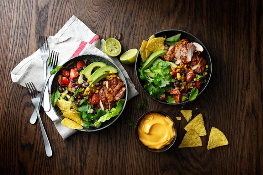 Simpel, lekker en nog gezond ook: recept voor een taco style kipsalade