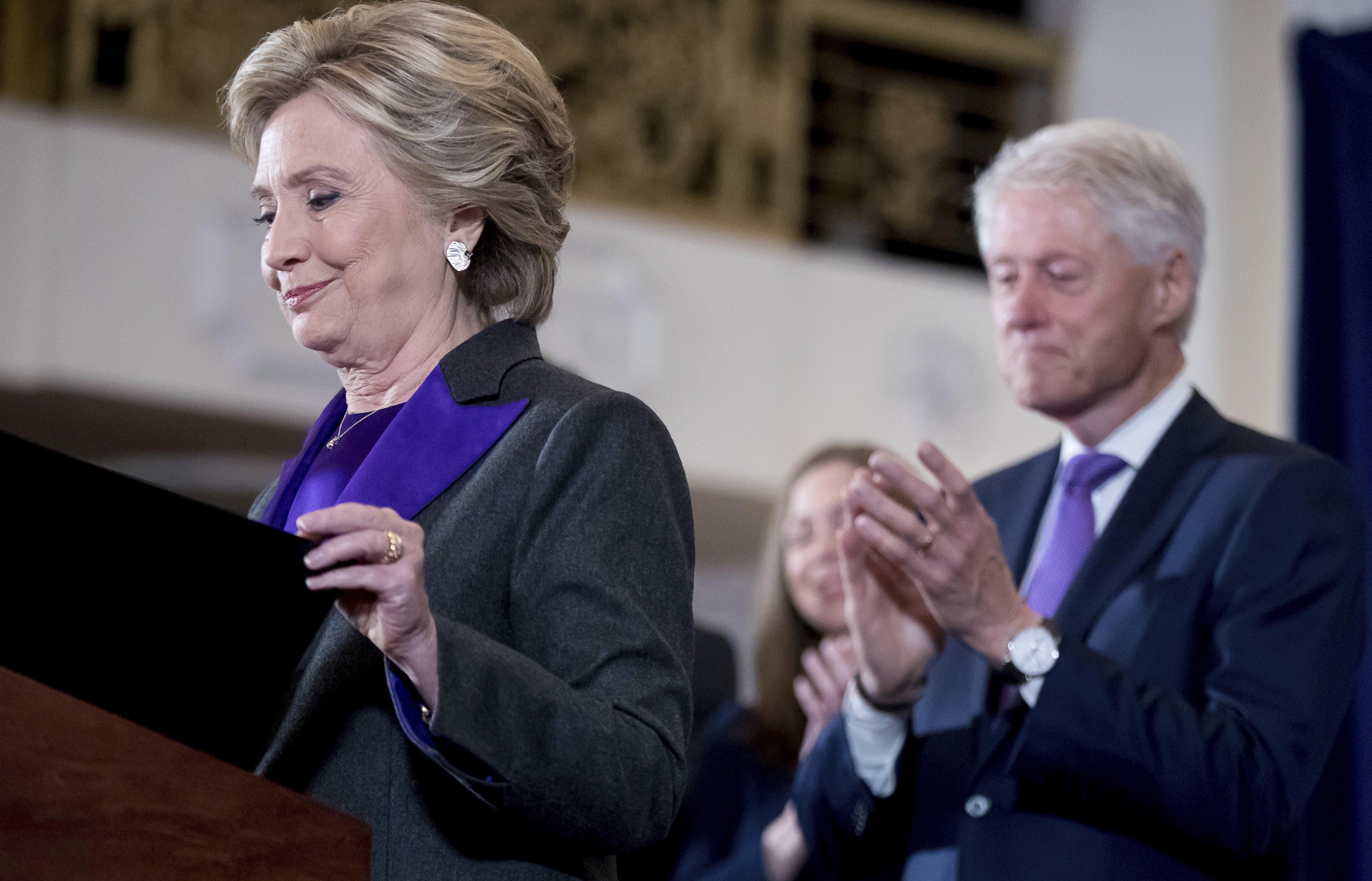 Dit deed Hillary Clinton de dag na de Amerikaanse verkiezingen