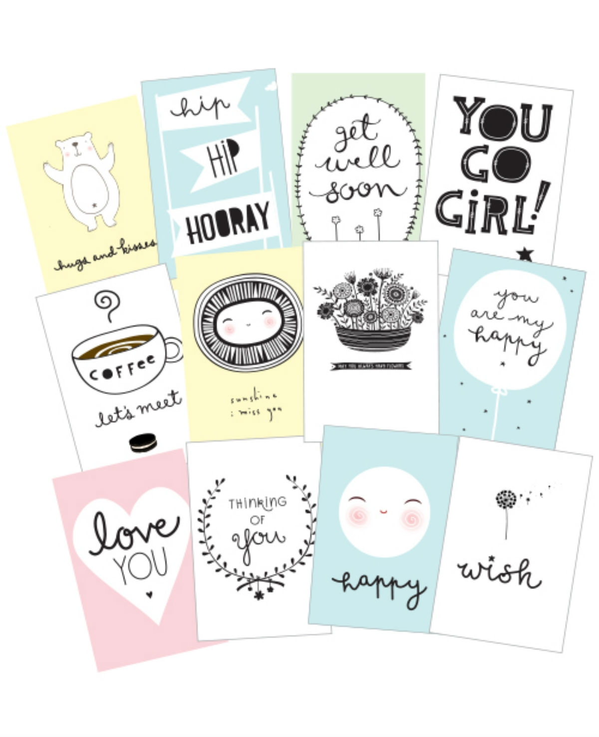 Win sentiment cards van A Little Lovely Company