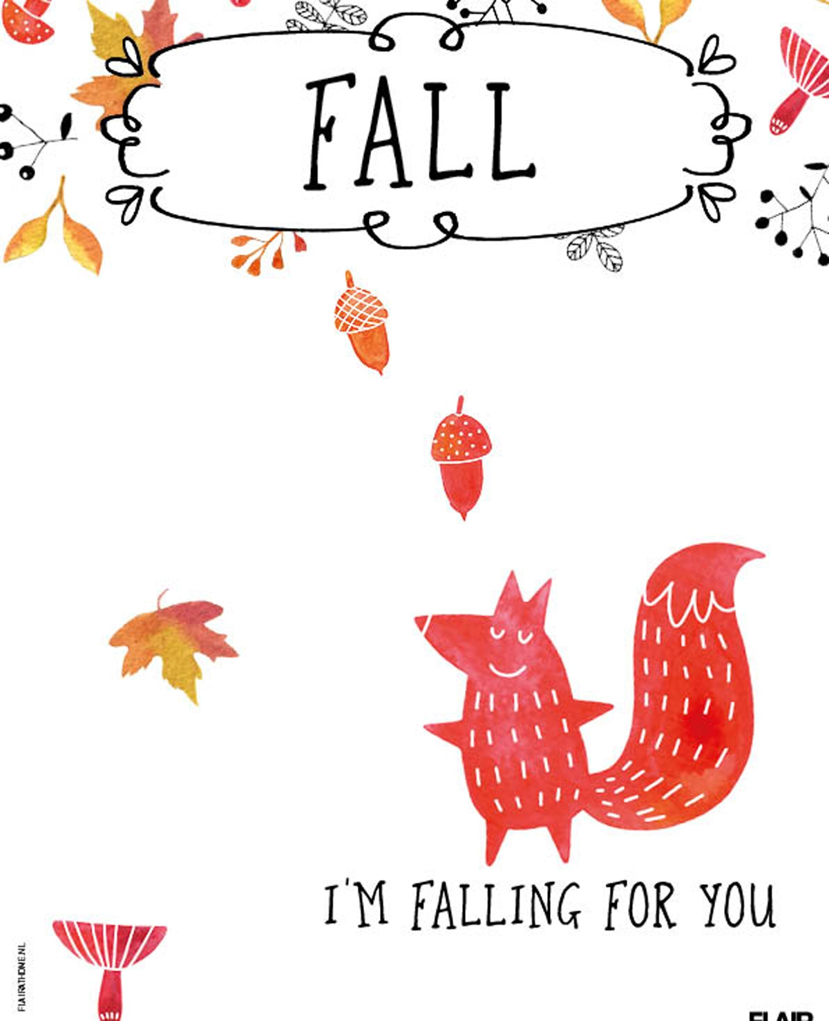 Fall, i'm falling for you